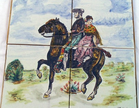Mural-decorativo-hombre-y-mujer-a-caballo