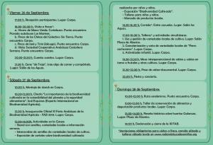 Mañana comienza la XI Feria Andaluza de la Biodiversidad Cultivada, en #GALAROZA.