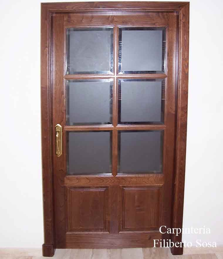 Puertas interiores con cristal puertas correderas espacio for Cristales puertas de interior