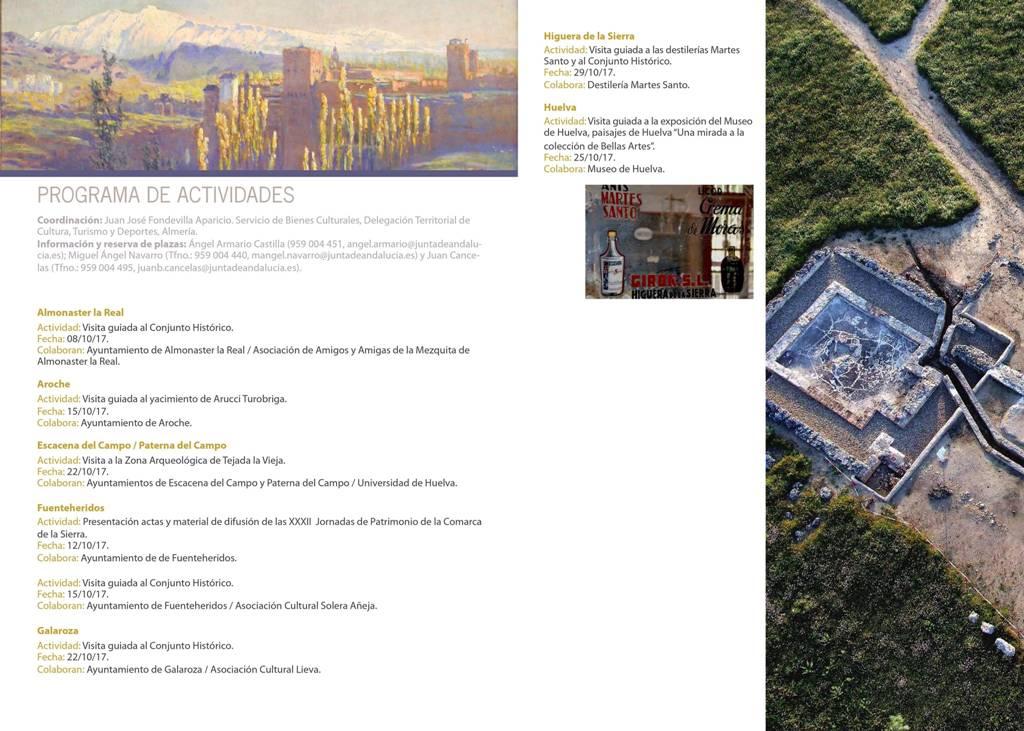 Jornadas Europeas del Patrimonio 2017 en la Sierra de Huelva: Programa de actividades